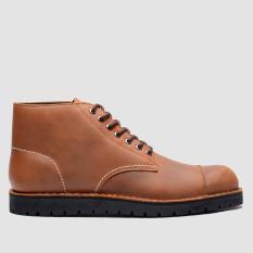Beli Brodo Sepatu Pria Alpha Vintage Brown Black Sole Yang Bagus