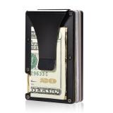 Beli Aluminium Slim Dompet Saku Depan Dompet Money Clip Minimalis Wallet Rfid Blocking Murah Tiongkok