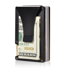 Harga Aluminium Slim Dompet Saku Depan Dompet Money Clip Minimalis Wallet Rfid Blocking Baru