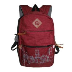 Jual Aluz Bpl6 Tas Ransel Backpack Pria Casual Sekolah Kuliah Kerja Raincover Denim Waterproof Bagus Maroon Overseas Original