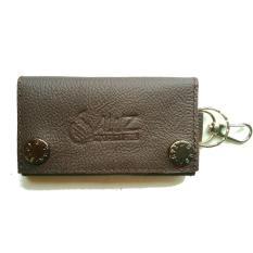 Jual Aluz Ckc1 Leather Keychain Wallet Dompet Gantungan Kunci Mobil Motor Bagus Murah Kulit Asli Cokelat Grosir