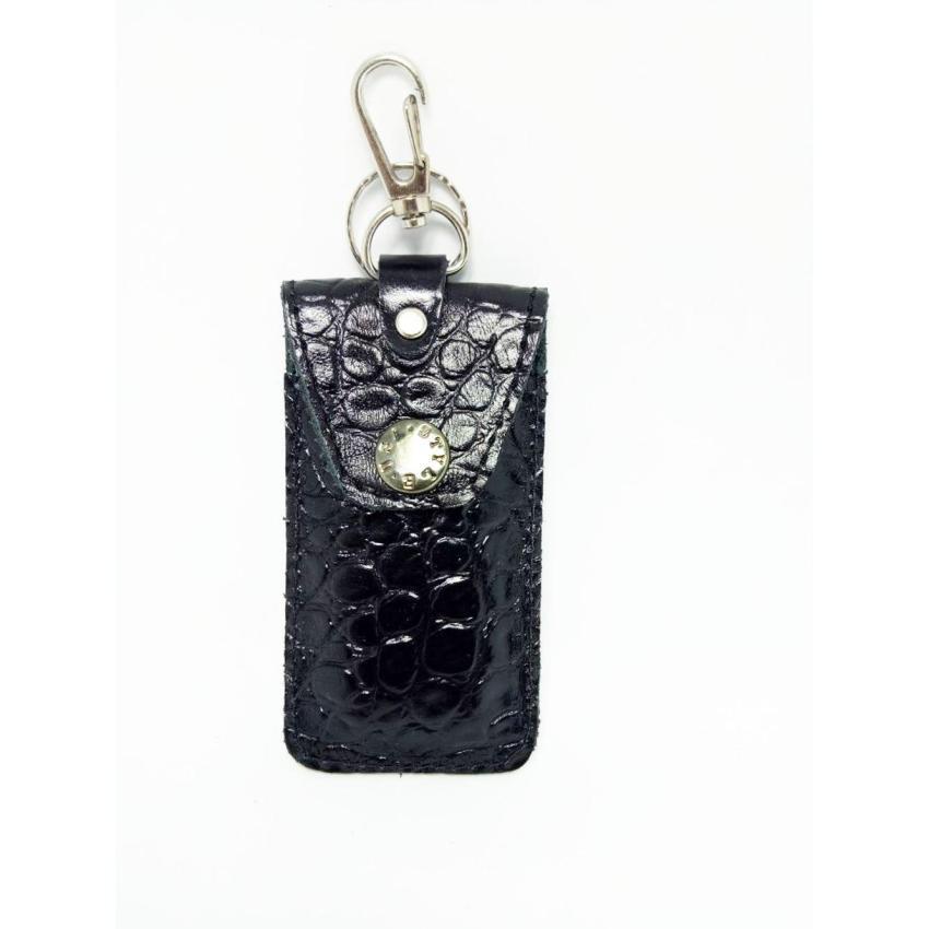 Aluz Leather KeyChain/ Gantungan Kunci Mobil/ Motor motif kulit buaya - Bagus & Murah