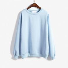 Amart Hoodies Wanita Musim Dingin Musim Gugur Pullover Kasual Biru Original