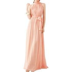 Harga Amart Gaya Bohemian Musim Panas Wanita Kain Sutera Tipis Gaun Panjang Tanpa Lengan Tali Gantungan Leher Dan Spesifikasinya