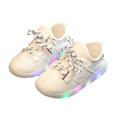 Amart Anak Kids DIPIMPIN Luminous Sneakers Olahraga Sepatu Kasual Boots untuk Musim Semi Musim Gugur-Intl
