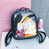 Jual Lucu Cat Pu Leather Backpack Candy Warna Transparan Tas Bahu Dompet Intl Amart Amart Original