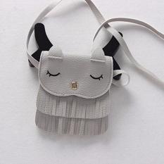 Lucu Rumbai Kucing Kecil Bahu Messenger Tas Dompet Koin Mini Kulit PU Leather