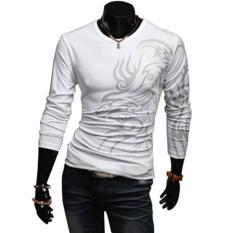 Beli Amart Tato Naga Kerah Bulat Lengan Panjang T Shirt Santai Motif Laki Laki Putih Intl Cicil