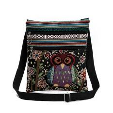 Toko International Amart Fashion Tas Wanita Bergaya Etnik Casing Bahu Beritsleting Ganda Bersulam Kartun Burung Hantu For Belanja Kencan Amart Online