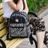Harga Hemat Amart Fashion Girls Backpack Pu Leather Stripe Letters Printed Schoolbag Students Rucksack Intl