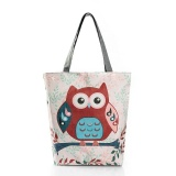 Tips Beli Amart Fashion Wanita Korea Floral Owl Dicetak Canvas Tote Casual Beach Tas Besar Kapasitas Single Shoulderv Shopping Handbag Intl