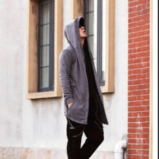 Dimana Beli Amart Fashion Mantel Hip Hop Bertudung Pria Lengan Panjang Amart
