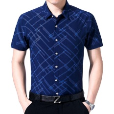 Jual Beli Online Amart Fashion Men Summer Formal Shirt Short Sleeve Casual Top Intl