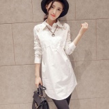 Amart Fashion Spring Autumn Women Shirt Long Sleeve Lace Splice Loose Casual Blouse Intl Original