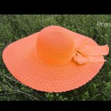 Jual Amart Fashion Summer Casual Bowknot Straw Wide Brim Sun Block Topi Pantai Amart