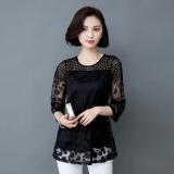 Toko Amart Fashion Blus Musim Panas Wanita Berenda Berlengan 3 4 Berongga Leher O Murah Di Tiongkok