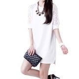Harga Amart Fashion Gaun Mini Musim Panas Untuk Wanita China Gaun Lurus Longgar Berlengan Renda Setengah Leher O Online