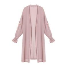 Review Amart Fashion Wanita Kimono Chiffon Floral Bordir Flare Lengan Summer Spring Cardigans Panjang Pink Intl Amart Di Tiongkok
