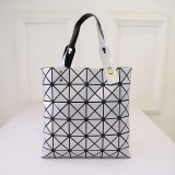 Promo Amart Fashion Women Shoulder Bags Triangle Stitching Handbag Silver Intl Murah