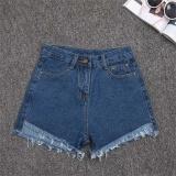 Ulasan Amart Fashion Celana Pendek Jeans Denim Musim Panas Wanita Slim Kasual Berpinggang Tinggi Biru Tua