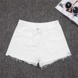 Situs Review Amart Fashion Women Slim Denim Hot Summer Casual Jeans High Waist Short Pants White Intl