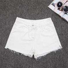Toko Amart Fashion Women Slim Denim Hot Summer Casual Jeans High Waist Short Pants White Intl Termurah