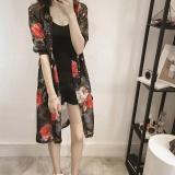 Harga Amart Fashion Mantel Musim Panas Pantai Untuk Wanita China Blus Panjang Kasual Longgar Bercetak Jersey Rayon Tipis Lengan 3 4 Lengkap