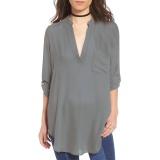 Spesifikasi Amart Fashion Wanita V Neck Chiffon Kasual Longgar Lengan Panjang Tidak Teratur Panjang Ukuran 5Xl Grey Intl