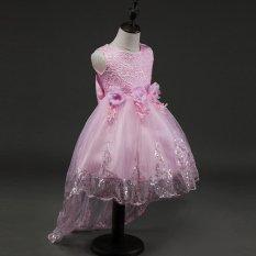 Amart Gaun Kontes Perempuan Berbunga-bunga Gaun Princess Tutu Anak Berenda untuk Pesta Pernikahan Malam