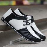 Spek Amart Fashion Korea Musim Panas Musim Gugur Pria Sepatu Kulit Pu Bernapas Loafers Trendi Man Casual Her Datar