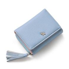 Jual Amart Korean Fashion Women Short Purse Pu Leather Tassels Zipped Card Holder Casual Wallets Intl Lengkap
