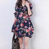 Miliki Segera Amart Blus Wanita Gaya Korea Lengan Baju Bergaris Baju Longgar Internasional