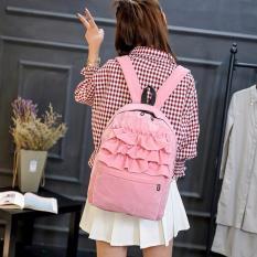 Jual Amart L*l*t* Pelangi Lace Backpack Siswa Velvet Backpack Tas Buku Sekolah Tas Forteenager Girls Pink Intl Di Bawah Harga