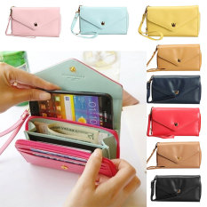 Toko Amart Lovely Crown Clutches Pu Leather Wallet Portable Mobile Phone Bag Blue Intl Murah Di Tiongkok