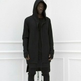 Jual Amart Gaun Bertudung Pria Mantel Hip Hop Kaus Longgar Lengan Panjang Jubah Musim Dingin Musim Gugur Hitam Intl Grosir