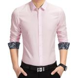 Toko Amart Kemeja Pria Lengan Panjang Berbahan Katun Tops Kemeja Pink Intl Termurah Di Tiongkok