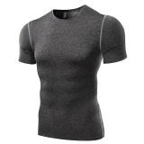 Toko Amart Kaos Olahraga Pria Tank Top Slim Lengan Bang Pendek Ketat Elastis For Kebugaran Gym Terlengkap