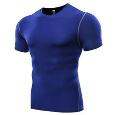 Harga Amart Kaos Olahraga Pria Tank Top Slim Lengan Bang Pendek Ketat Elastis For Kebugaran Gym Amart Baru