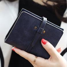 Review Amart Mini Lovely Dompet Kopling Pendek Tas Kecil Pu Pemegang Kartu Biru Intl Terbaru