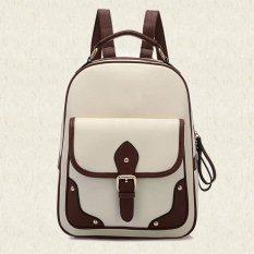 Jual Amart Patchwork Wanita Ransel Mochila Wanita Pu Kulit Travel Bag Sch**l Backpack Online Tiongkok