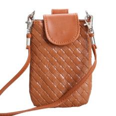 Spesifikasi Amart Phone Shoulder Bags Clutch Bag Knitting Bag For Iphone 4S 5 5S Mp3 4 Brown Intl