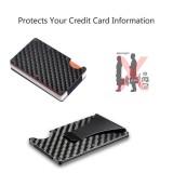 Harga Amart Slim Carbon Fiber Kredit Pemegang Kartu Rfid Scan Metal Dompet Uang Klip Dompet Intl Yang Murah Dan Bagus
