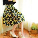 Toko Amart Gaun Panas Musim Fashion Vintage Wanita Rok Sepinggan Bermotif Bunga Bunga Tiongkok