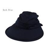 Toko Amart Simpul Fashion Musim Panas Matahari Pantai Topi Topi Visor Besar Abu Abu Gelap International Lengkap