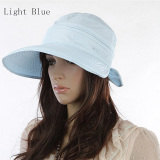 Beli Amart Simpul Fashion Musim Panas Matahari Pantai Topi Topi Visor Besar Cahaya International Cicilan
