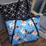 Jual Amart Women Pu Bags Flower Print Shoulder Bag Handbag Casual Tote Bags Import