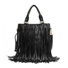 Spesifikasi Amart Women Punk Tassel Handbag Fringe Hobo Tote Shoulder Bag Black Oem Terbaru