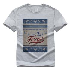 Amerika Thriller Film Ketegangan Fargo Lester Nygaard Grafis Cetakan Kasual Gaya Jalanan Kapas Pemuda Kaus Lucu FG1 (Abu-abu)-Intl