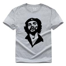 Film Amerika Pejuang Kebebasan Che Guevara Grafis Cetakan Kasual Gaya Jalanan Kapas Pemuda Kaus Lucu CG2 (Abu-abu)-Intl