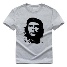 Film Amerika Pejuang Kebebasan Che Guevara Grafis Cetakan Kasual Gaya Jalanan Kapas Pemuda Kaus Lucu CG7 (Abu-abu)-Intl